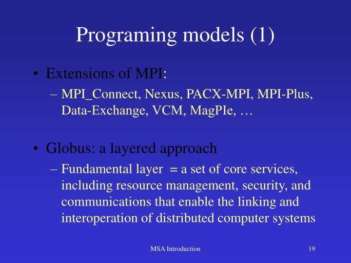 Programing models (1)