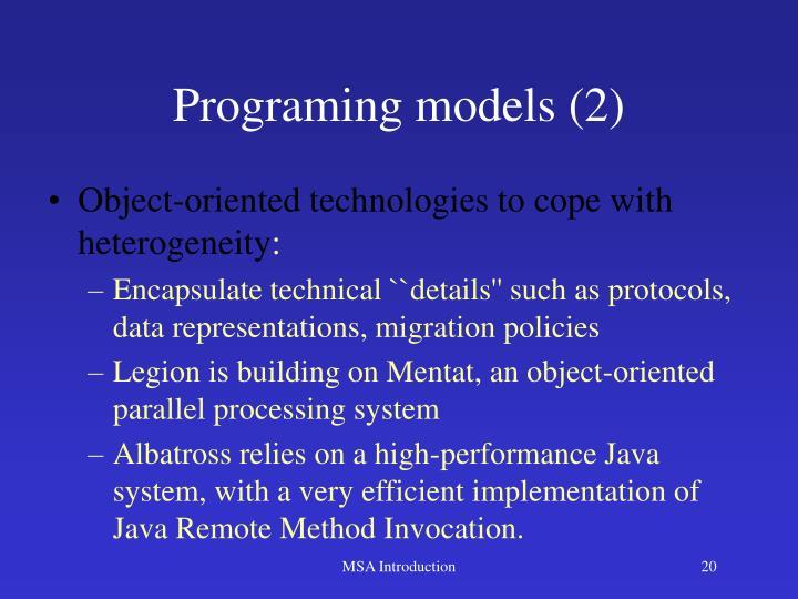 Programing models (2)