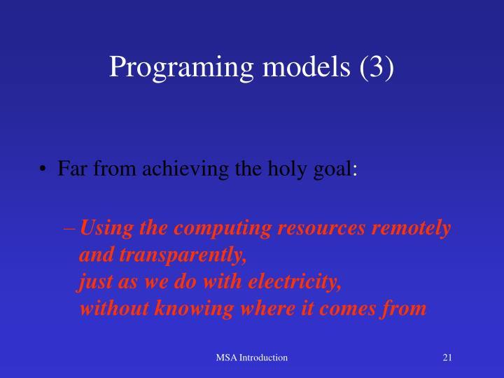 Programing models (3)