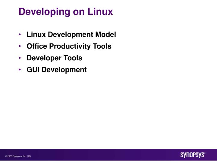 Developing on Linux