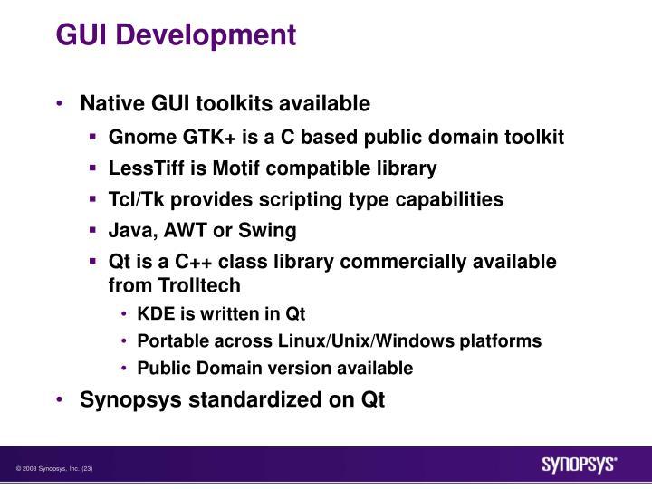GUI Development