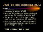 303 d process establishing tmdls