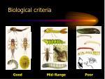 biological criteria
