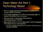 clean water act part i technology based