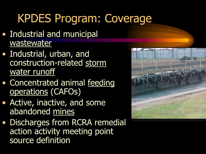 KPDES Program: Coverage