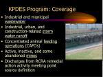 kpdes program coverage