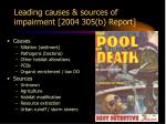 leading causes sources of impairment 2004 305 b report
