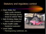 statutory and regulatory context