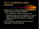 tier 3 outstanding waters protected