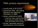 tmdl process requirements