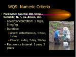 wqs numeric criteria