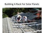 building a rack for solar panels
