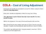 cola cost of living adjustment
