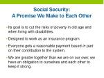 social security a promise w e make to each other