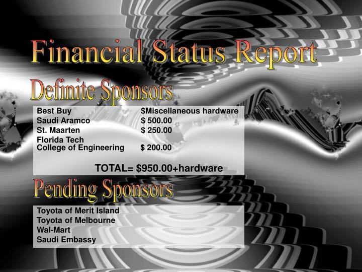Financial Status Report