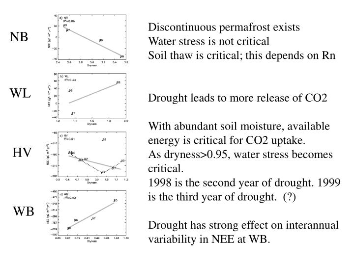 Discontinuous permafrost exists