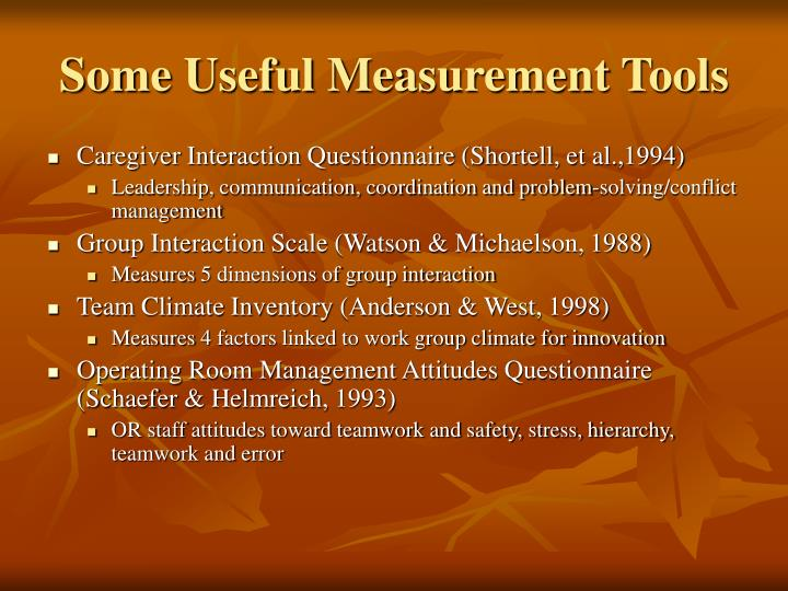 Some Useful Measurement Tools