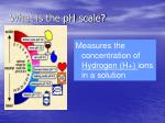 what is the ph scale