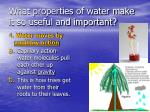what properties of water make it so useful and important3