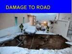 damage to road
