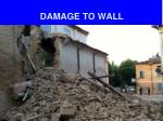 damage to wall