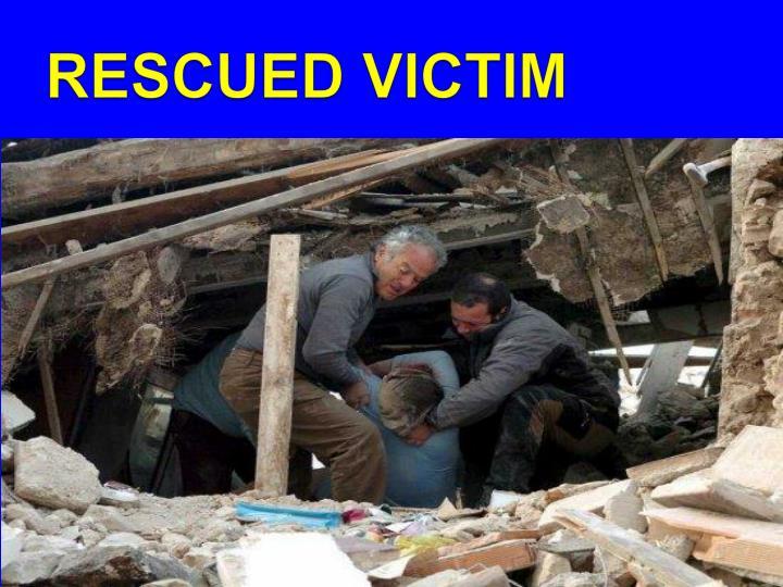 RESCUED VICTIM