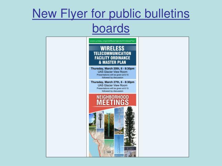 New Flyer for public bulletins boards