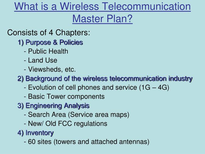 What is a Wireless Telecommunication Master Plan?