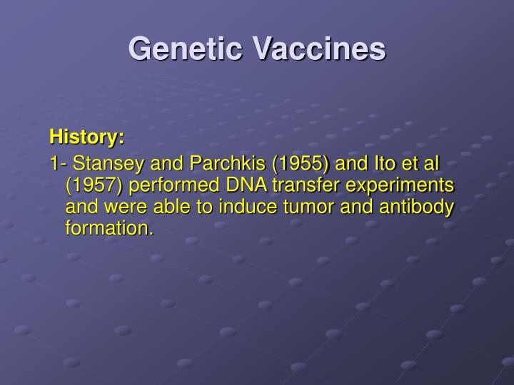 Genetic Vaccines