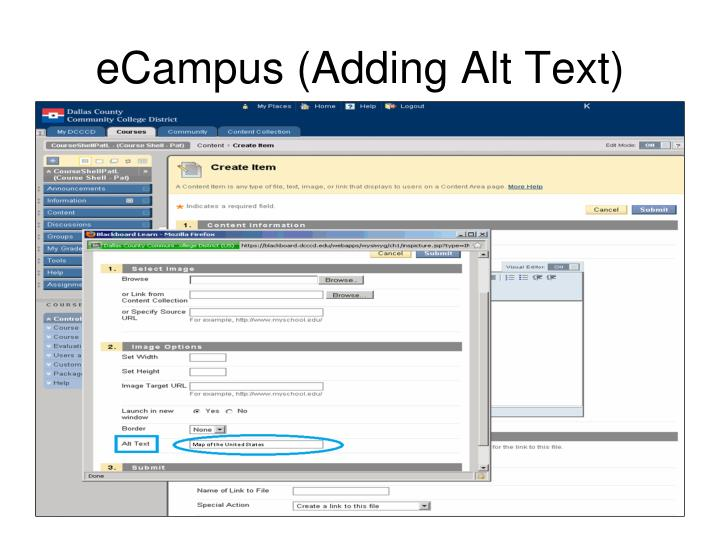 eCampus (Adding Alt Text)