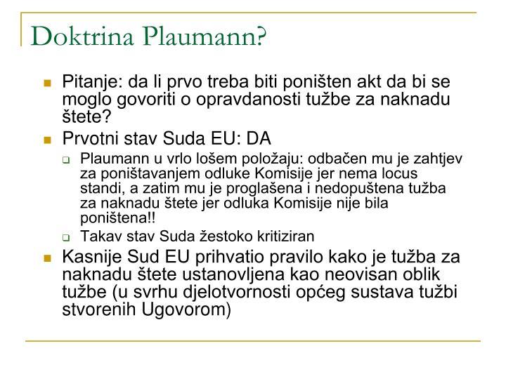 Doktrina Plaumann?