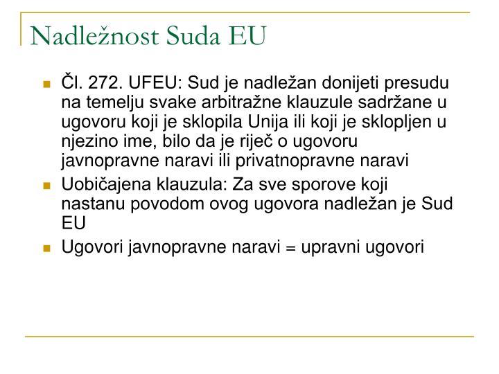 Nadležnost Suda EU