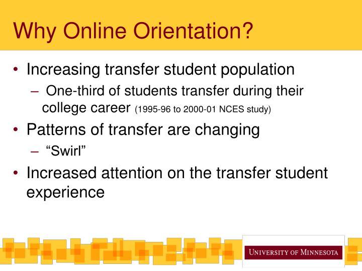 Why Online Orientation?