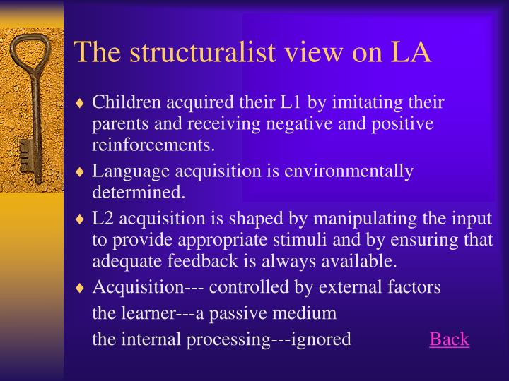 The structuralist view on la
