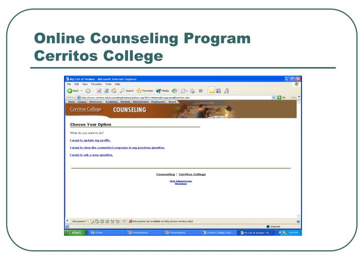 Online Counseling Program