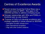 centres of excellence awards