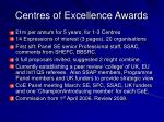 centres of excellence awards1