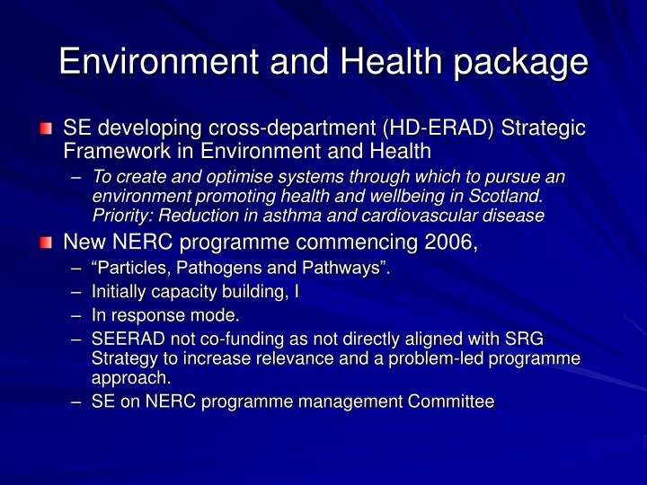 Environment and Health package