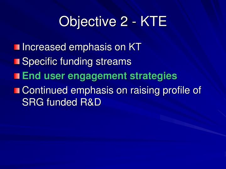 Objective 2 - KTE
