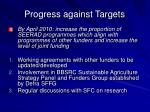 progress against targets5