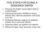 five steps for doing a research paper