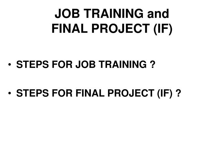 JOB TRAINING and