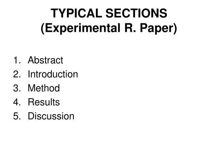 TYPICAL SECTIONS