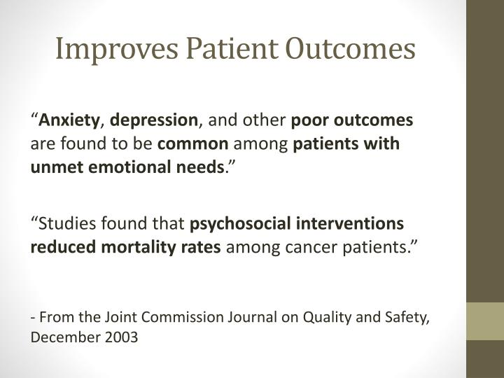 Improves Patient Outcomes