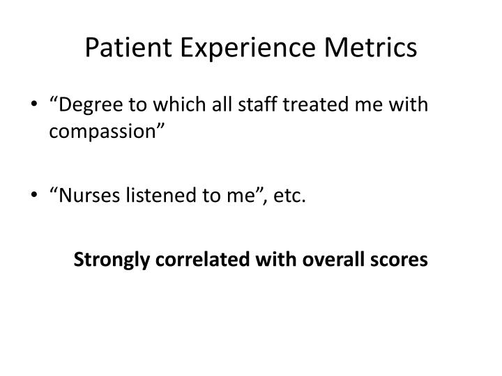 Patient Experience Metrics