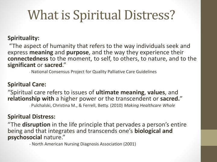 What is Spiritual Distress?