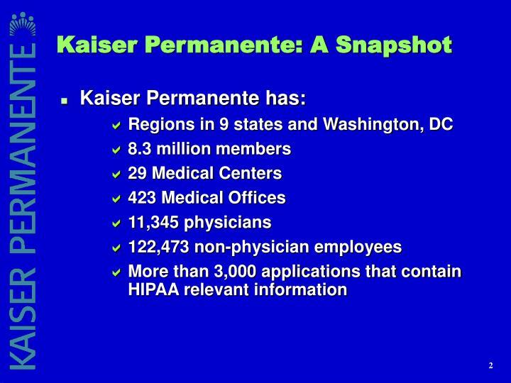 Kaiser Permanente: A Snapshot