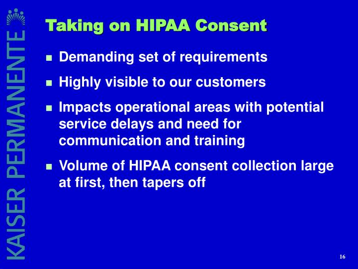 Taking on HIPAA Consent