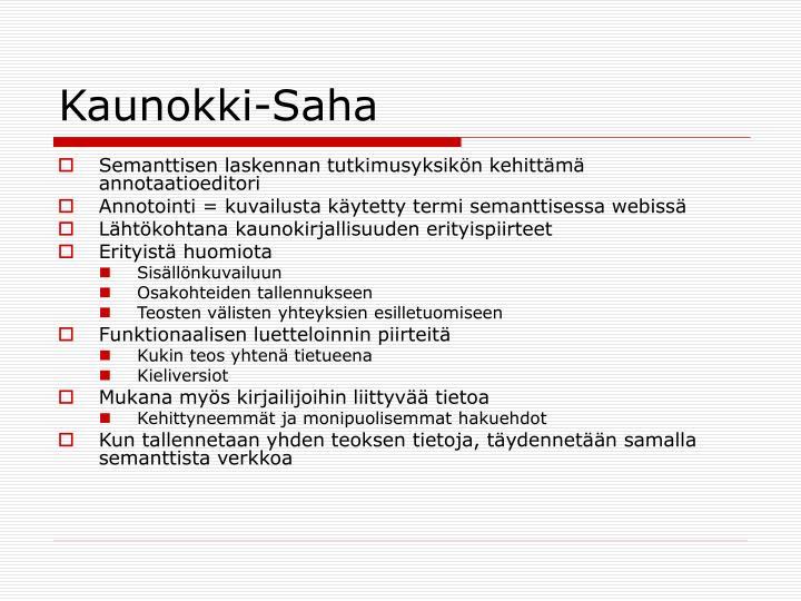 Kaunokki-Saha