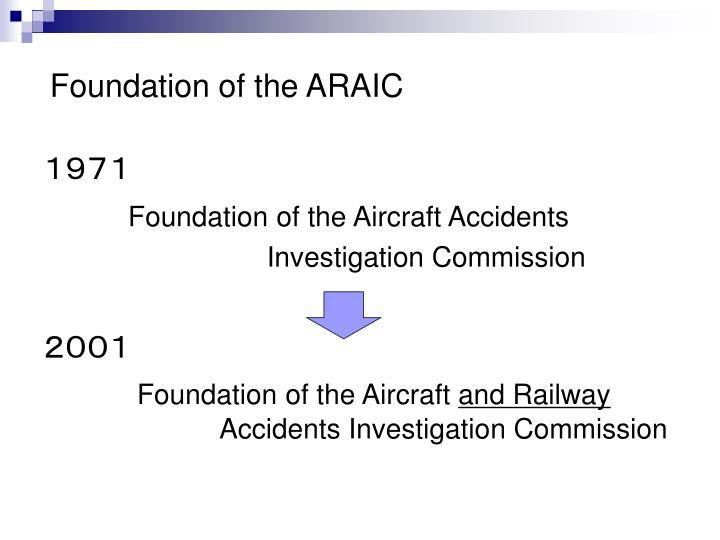 Foundation of the ARAIC